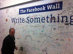 Facebook Wall - interactive white board wall