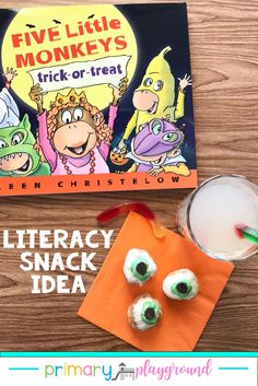 Literacy Snack Idea Trick Or Treat + Free Printable