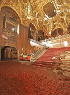 Abandoned theatre what a beauty!