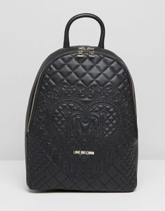 Love Moschino Quilted & Embossed Backpack