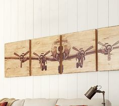 Planked Airplane Panels: great for my aviation nursery