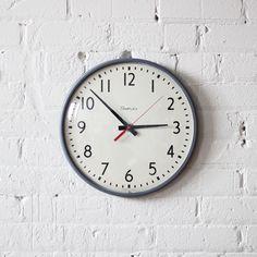 simplex school wall clock / industrial decor. $100.00, via Etsy.