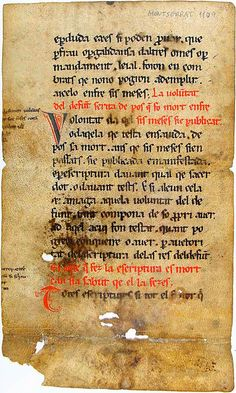 """""""From the 12th century, this is thought to be the first written document in the Catalan language"""""""