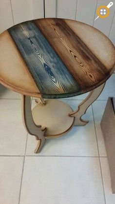 Wood painting Fiskos coffee table models - table Source by elf Paint Furniture, Furniture Projects, Furniture Making, Furniture Makeover, Wood Projects, Decoupage Art, Decoupage Vintage, Handmade Home, Creation Deco