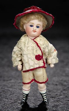 """Bijoux"" Doll Auction, January 6-7, 2018 - theriaults.proxibid.com - German All-Bisque Closed Mouth Doll by Kestner 600/800"