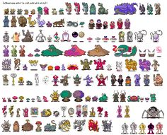 Monster Sprite Sheets Useful For Designing Sprites And