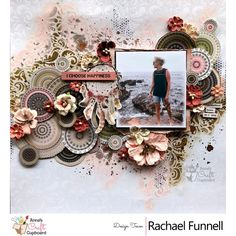 Rachael Funnell up on our blog this week showcasing her gorgeous creations using the Kaisercraft Gypsy Rose Collection. First up from Rachael, we have this stunning layout titled 'I choose Happiness' which also includes some wonderful Prima and 49 and Market flowers.