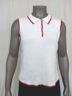 Liz Golf sleeveless polo shirt size M #LizClaiborne #PoloShirt #Casual