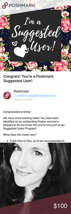 I'm a Suggested User! Thank you so much Poshmark for allowing me to be part of the Suggested User program! I'm so excited! What a great way to start the New Year! 😍🎉🎉❤️❤️🎉🎉👑 Come play my follow Game and lets both grow! Kendra Scott Accessories