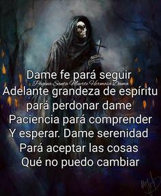 Santa Muerte Prayer, Imagenes Dark, Chula, Prayers, Joker, Movie Posters, Drawings, Quotes, Ideas