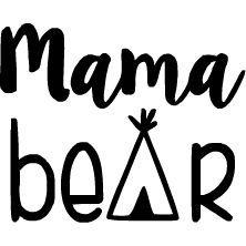 "Custom Mama Bear Design 6/"" X 4/"" Large Iron On DIY Decal Transfer HTV"
