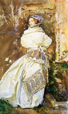 The Cashmere Shawl, John Singer Sargent. (1856-1925)