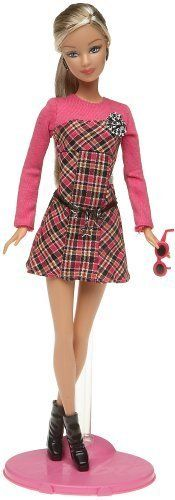 NEW Barbie Fashion Fever: Barbie in Black and Pink Plaid Dress  picclick.com