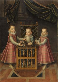 Lot 1269: Attributed to Jan Kreack, called Giovanni Caracca, triple portrait of Filippo Emanuele, Emanuele Filiberto and Vittorio Amedeo, 1589, oil on canvas, 182 x 135 cm with frame, estimate €15,000. Courtesy Bolaffi Turin. https://www.liveauctioneers.com/news/columns-and-international/artmarketitaly/page/5/