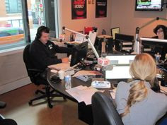 B. Hayes - Host of TSN 1050's Bryan Hayes show, with producer Steph