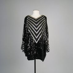 Vintage 1980s chevron sequined blouse/mini by MintageClothingCo