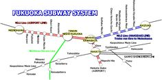 awesome Fukuoka Metro Map