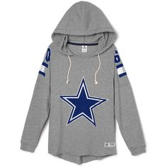 PINK Dallas Cowboys Pullover Hoodie (€54) ❤ liked on Polyvore