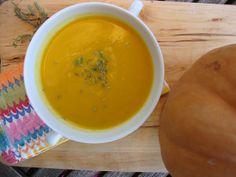 Sopa de Abóbora e Cenoura com Caril e Leite de Coco