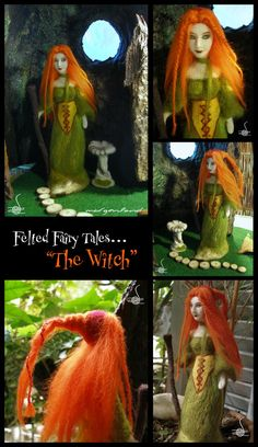 The Witch by Morgenland on #DeviantART felted art doll