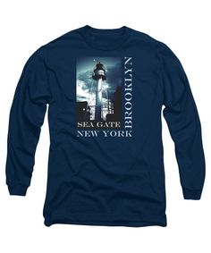 Long Sleeve T-shirt Sea Gate 1 Brooklyn New York. by ExlusiveNY