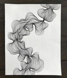 Abstract line art, black and white modern drawing, organic line shape design, line art frame included - kunst - Line Art Design, Form Design, Shape Design, Black And White Lines, Black And White Drawing, Black And White Abstract, Black Ink Art, Abstract Line Art, Abstract Drawings