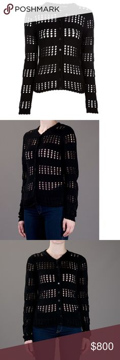 "Dolce & Gabbana Crochet Cardigan HOST PICK Dolce & Gabbana Women's Black Crochet Cardigan  with cutouts throughout and button closures at front. Bust: 32""  Waist: 29""  Length: 22""  Made in Italy. Size: S / US 4 / IT 40. Fabric: 100% Cotton. Excellent Condition Dolce & Gabbana Sweaters Cardigans"