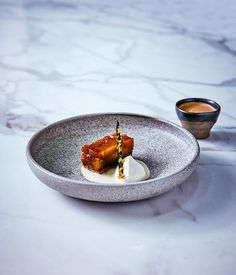 Tetsuya's caramelised apple and saikyo miso cream :: Gourmet Traveller