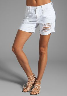 J BRAND Slouchy Boyfriend Short in White Euphoria at Revolve Clothing - Free Shipping!