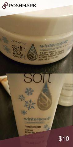 Lotion set Avon skin so soft Winter Soft set. Soft Jasmine sent. Body Cream and hand lotion Avon Other