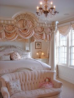 Pretty in pink: The De Medici Canopy Bed by Phyllis Morris
