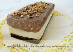 semifreddo al triplo cioccolato e mascarpone