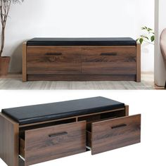 TV Cabinet Board Retro Wooden TV Stand Sideboard Lowboard for Living room with 2 Drawers Shoe Storage Seat, Leather Storage Bench, Entryway Bench Storage, Storage Ottoman Bench, Bench With Storage, Upholstered Bench, Shoe Bench, Bedroom Storage, Bedroom Sets