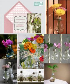 Invitaciones de boda, invitaciones para boda, DIY, manualidades, jarrones de bombillas recicladas, manualidades, flores, bombillas con flores    Para Más Info Visita: www.LaBelleCarte.com    Online wedding invitations, online wedding cards, DIY, flowers, spring, lightbulb vase, lightbulb vase ideas    For More Info Visit: www.LaBelleCarte.com/en