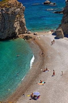 Kaladi, probably the most famous beach of Kythira island