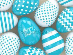 3d rendering of Easter eggs with greetings — Stock Photo © ayo888 #140307410