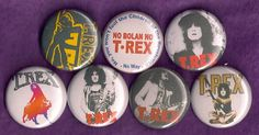 T REX Marc Bolan Pins Buttons Badges