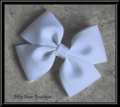 How To Make A Flat Boutique Hair Bow (Pinwheel Hair Bow) Tutorial