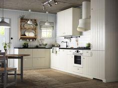 METOD keuken | #IKEA #IKEAnl #landelijk #romantisch #keukensysteem #inspiratie #HITTARP