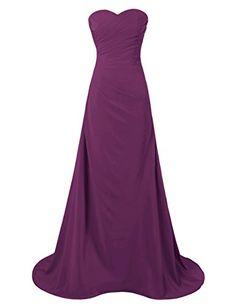 Dresstells® Women's Long Strapless Chiffon Prom Dress…