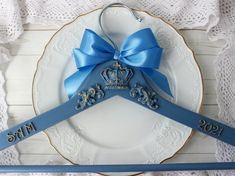 This Royal vintage custom bride hanger made in rustic style is just gorgeous. Victorian wedding dress hanger is custom personalized for bridal, groom or bridesmaid. Custom made to order on a peg I will write your name and date of your wedding. Write to me about it and I will execute your desire. Hanger also makes a stunning photo prop for the wedding dress and a unique and thoughtful bridal shower gift! Painted & distressed to look worn & vintage. A wedding hanger is done in style of Shabby chic Bride Hanger, Wedding Dress Hanger, Wedding Hangers, Wedding Dresses, Thoughtful Bridal Shower Gifts, Cute Gift Boxes, Distressed Painting, Vintage Gifts, Rustic Style