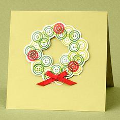 Cute as a Button Wreath Card
