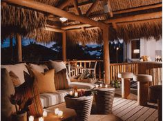 thatched roof patio