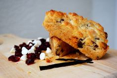 Cranberry White Chocolate Chip Scones
