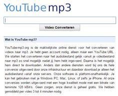 Online tool om materiaal op YouTube naar mp3 om te zetten en te kunnen downloaden