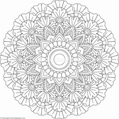 Flower Mandala Coloring Pages #207 – GetColoringPages.org