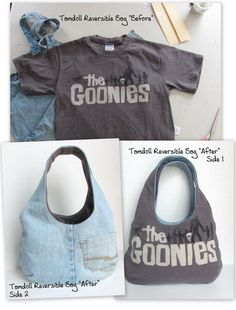 "Reversible Goonies Bag ""Before"" & ""After"" 
