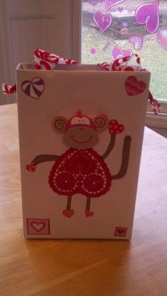 Cereal box made into Valentines Box-different design, but super easy with a cereal box!