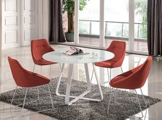 Vera Dining Table in White by J&M w/Optional Chairs