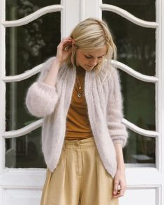 Ravelry: Sunday Cardigan - Mohair Edition pattern by PetiteKnit Mohair Yarn, Mohair Sweater, Cardigan Pattern, Knit Cardigan, Raglan Pullover, Knit In The Round, Stockinette, Summer Shirts, Knit Patterns